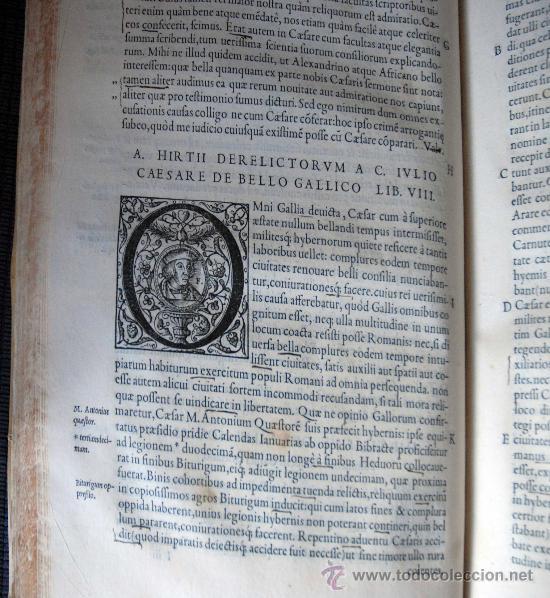 Libros antiguos: CAESARIS RERUM AB SE GESTARUM COMMENTARI - PARIS 1543 - Foto 17 - 30349193