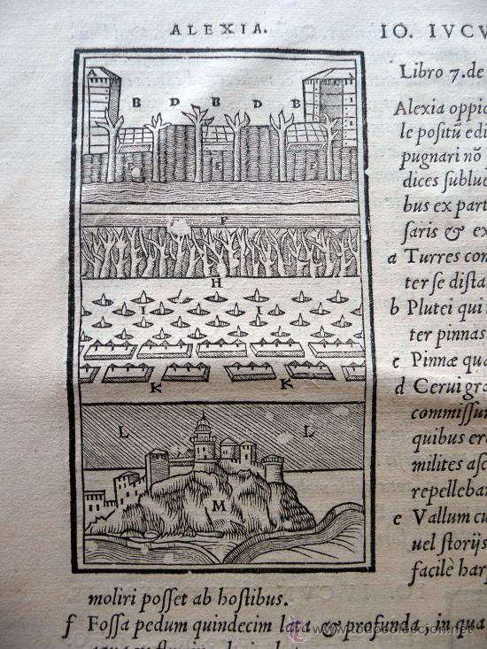 Libros antiguos: CAESARIS RERUM AB SE GESTARUM COMMENTARI - PARIS 1543 - Foto 12 - 30349193