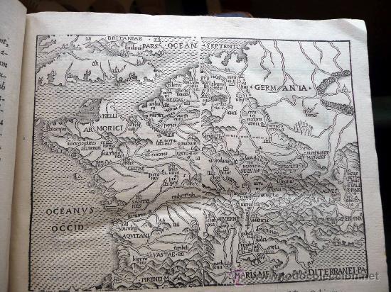 Libros antiguos: CAESARIS RERUM AB SE GESTARUM COMMENTARI - PARIS 1543 - Foto 10 - 30349193