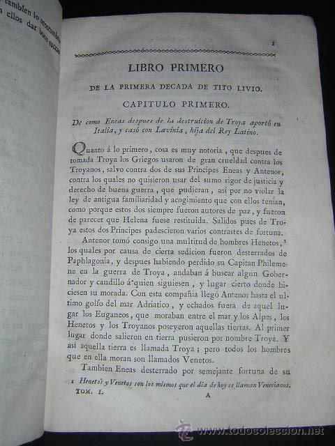 Libros antiguos: 1793 - DECADAS DE TITO LIVIO TRADUCIDAS POR PEDRO DE VEGA - DECADA PRIMERA - Foto 5 - 30702612