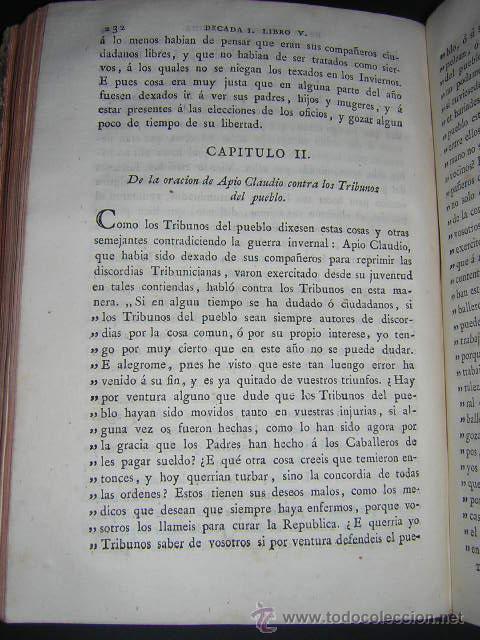 Libros antiguos: 1793 - DECADAS DE TITO LIVIO TRADUCIDAS POR PEDRO DE VEGA - DECADA PRIMERA - Foto 7 - 30702612