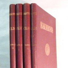 Libros antiguos: CLÍO / INICIACIÓN AL ESTUDIO DE LA HISTORIA ( COMPLETO 4 VOLÚMENES ) - BALLESTER - 1935. Lote 31024923