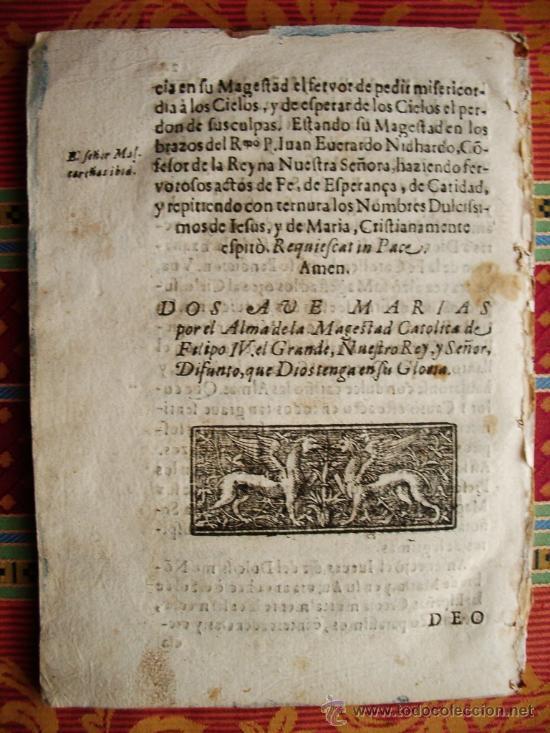Libros antiguos: 1668c – CRÓNICA-REQUIEM DEL REY FELIPE IV. ESPAÑA. RARA Y MUY ESCASA.PUEDE PAGARSE A PLAZOS - Foto 10 - 26691844