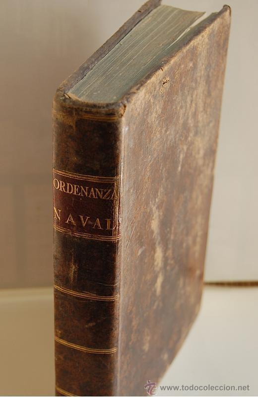 1802 REAL ORDENANZA NAVAL PARA EL SERVICIO DE LOS BAXELES DE S.M. (Libros antiguos (hasta 1936), raros y curiosos - Historia Antigua)