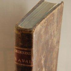 Libros antiguos: 1802 REAL ORDENANZA NAVAL PARA EL SERVICIO DE LOS BAXELES DE S.M.. Lote 31589910