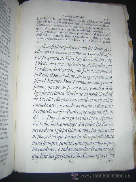 Libros antiguos: 1722 - MEMORIAL A FELIPE V POR LA PRIMACIA DE LAS ESPAÑAS DE LA IGLESIA DE SEVILLA - Foto 8 - 31613976