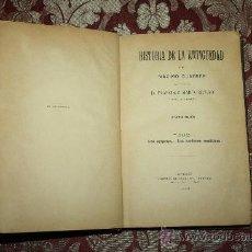 Libros antiguos: 1538- 'HISTORIA DE LA ANTIGÜEDAD' POR MÁXIMO DUNCKER TOMO I 2ª ED. LIBR. FCO. IRAVEDRA - 1895. Lote 31890862