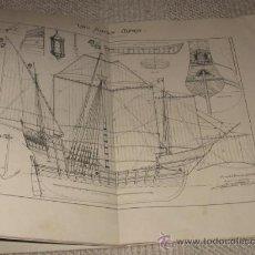 Libros antiguos: LA NAO SANTA MARÍA. MEMORIA DE LA COMISIÓN ARQUEOLÓGICA EJECUTIVA. 1892. COLÓN. DEDICADO. Lote 32850661