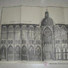 Libros antiguos: FACSÍMIL. IGLESIA DE LEÓN Y MONASTERIOS.MANUEL RISCO. CON 6 PLIEGOS DESPLEGABLES.. Lote 33066271