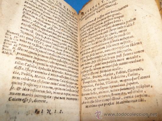 Libros antiguos: VALERII MAXIMI. DICTORVM EACTORVMO MEMORABILIVM. LIBRI NOVEM.-- AÑO.-1605 - Foto 4 - 33540307