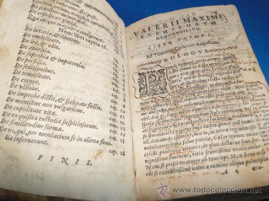 Libros antiguos: VALERII MAXIMI. DICTORVM EACTORVMO MEMORABILIVM. LIBRI NOVEM.-- AÑO.-1605 - Foto 9 - 33540307