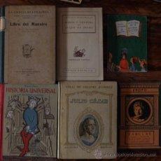 Libros antiguos: LOTE DE 6 LIBROS VARIADOS. Lote 33664195
