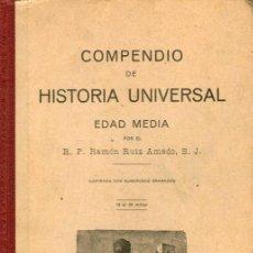 Libros antiguos: COMPENDIO DE HISTORIA UNIVERSAL - EDAD MEDIA. Lote 33700263