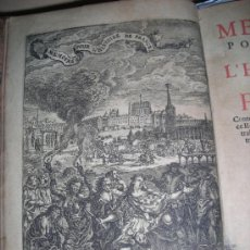 Libros antiguos: MEMOIRES POUR SERVIR A L´HISTOIRE DE FRANCE, 1719. CONTIENE 1 FRONTISPICIO Y 15 GRABADOS.. Lote 33890387