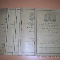 Libros antiguos: LOTE 5 REVISTAS DE L´INSTITUT AGRICOLA CATALA DE SANT ISIDRE. 1935. L10045. Lote 34074749