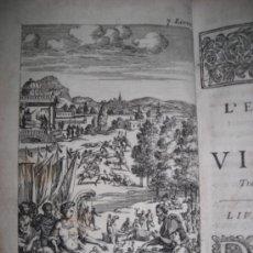 Libros antiguos: TRADUCTION DE L`ENEIDE DE VIRGILE, SEGRAIS, 1700 CONTIENE 6 GRABADOS. Lote 34151367