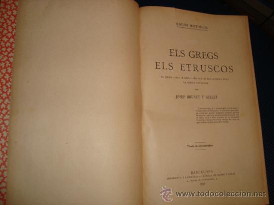 Libros antiguos: (490) ERROS HISTORICS- ELS GREGS ELS ETRUSCOS - Foto 2 - 34205913