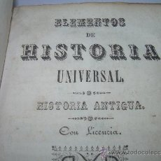 Libros antiguos: ANTIGUO LIBRO DE PERGAMINO....ELEMENTOS DE HISTORIA UNIVERSAL....AÑOS..1850 - 1851.. Lote 34295967