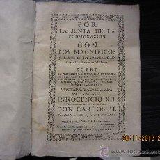 Libros antiguos: POR LA JUNTA DE CONSIGNACION CON LOS MAGNIFICOS JURADOS DE LA UNIVERSIDAD CIUDAD Y REYNO DE MALLORCA. Lote 34546180