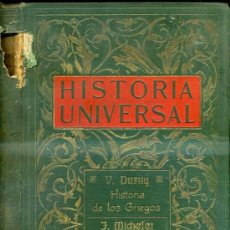 Libros antiguos: DURUY : HISTORIA DE LOS GRIEGOS II / MICHELET : LA REPÚBLICA ROMANA (1910). Lote 34945837