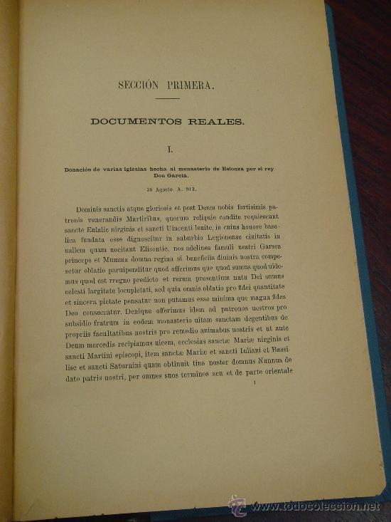 Libros antiguos: CARTULARIO DEL MONASTERIO DE ESLONZA. 1885. Primera parte (y única publicada) - Foto 3 - 35297020