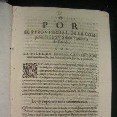 Libros antiguos: ALEGACIÓN SIGLO XVII. JESUITAS. BROZAS CÁCERES.. Lote 35676240
