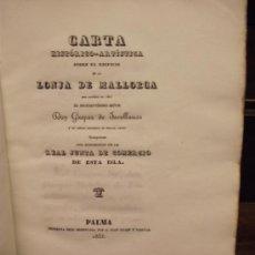 Libros antiguos: CARTA HISTORICO ARTISTICA DE LA LONJA DE MALLORCA, JOVELLANOS. Lote 36041076
