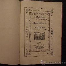 Libros antiguos: PANORAMA OPTICO HISTORICO ARTISTICO DE LAS ISLAS BALEARES, DON ANTONIO FURIO, 1840. Lote 36095316
