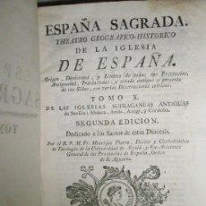 Libros antiguos: FLOREZ, HENRIQUE: ESPAÑA SAGRADA. TOMO X. DE LAS IGLESIAS SUFRAGÁNEAS ANTIGUAS DE SEVILLA: ABDERA, A. Lote 36120323