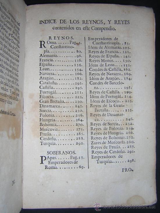 Libros antiguos: 1755 - MANUEL TRINCADO - COMPENDIO HISTORICO Y GENEALOGICO DE LOS SOBERANOS DE EUROPA, SUS CORTES... - Foto 6 - 36539824