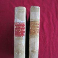 Libros antiguos: COMPENDIO DE HISTORIA UNIVERSAL POR AMBROSIO RENDU - SEGUNDA EDICION - 1848. Lote 38219221