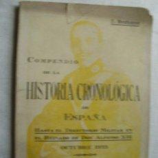 Libros antiguos: COMPENDIO DE LA HISTORIA CRONOLÓGICA DE ESPAÑA. BERTRANS, JOSÉ. 1923. Lote 36961356