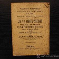 Libros antiguos: MEMORIA HISTORICA DEL LEVANTAMIENTO DE LOS COMUNEROS MALLORQUINES EN 1520, JUAN ODON COLOM, FURIO. Lote 37109264