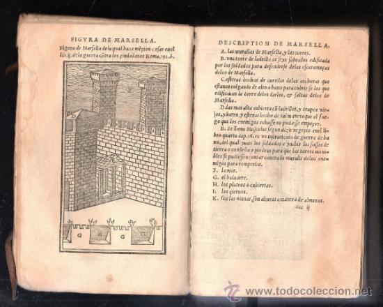 Libros antiguos: 1549,Comentarios de la Guerra de las Galias,Cayo Julio César,excepcional libro en - Foto 4 - 37705325