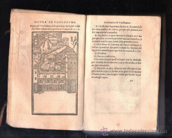 Libros antiguos: 1549,Comentarios de la Guerra de las Galias,Cayo Julio César,excepcional libro en - Foto 3 - 37705325