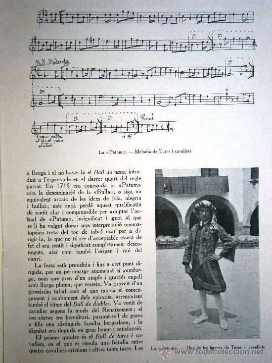 Libros antiguos: Junta de Museus La Patum de Berga de Joan Amades 1932 Escrito en Catalan - Foto 2 - 37831486
