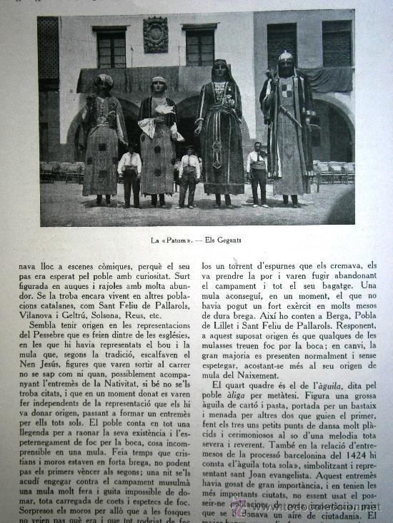 Libros antiguos: Junta de Museus La Patum de Berga de Joan Amades 1932 Escrito en Catalan - Foto 3 - 37831486
