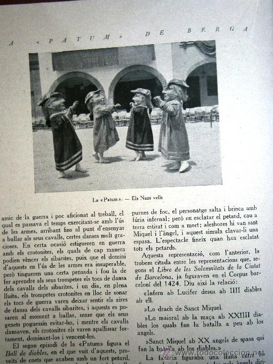 Libros antiguos: Junta de Museus La Patum de Berga de Joan Amades 1932 Escrito en Catalan - Foto 4 - 37831486