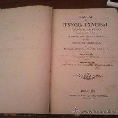 Libros antiguos: MANUAL DE HISTORIA UNIVERSAL. Lote 37942057