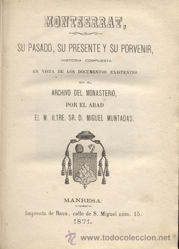 Libros antiguos: MONTSERRAT – AÑO 1871 - Foto 2 - 38384238