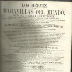 Libros antiguos: HÉROES Y MARAVILLAS DEL MUNDO. DIOS, LA TIERRA Y LOS HOMBRES. BENEDICTO CLEMENTE.TOMO VII. 1856. Lote 38985781