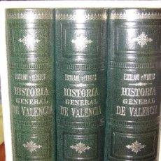 Libros antiguos: HISTORIA GENERAL DE VALENCIA. Lote 39224976