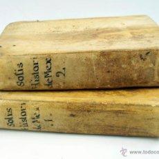 Libros antiguos: HISTORIA DE LA CONQUISTA DE MEXICO, ANTONIO DE SOLIS 2 TOMOS, PIFERRER ED, 1771. MAPAS Y GRABADOS. Lote 72655130