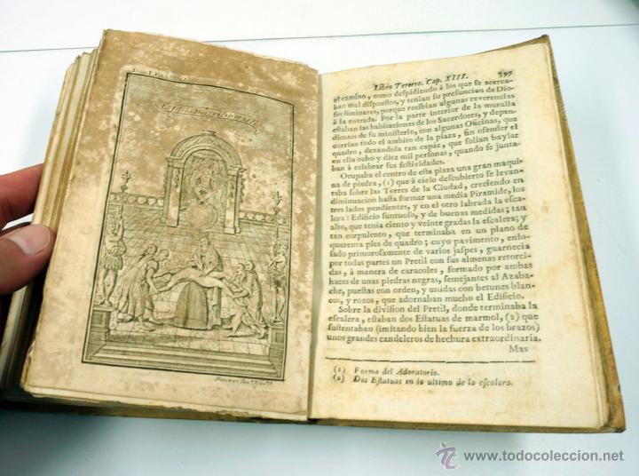 Libros antiguos: Historia de la conquista de Mexico, Antonio de Solis 2 tomos, piferrer ed, 1771. mapas y grabados - Foto 9 - 161752784