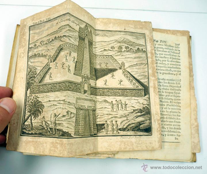 Libros antiguos: Historia de la conquista de Mexico, Antonio de Solis 2 tomos, piferrer ed, 1771. mapas y grabados - Foto 10 - 161752784