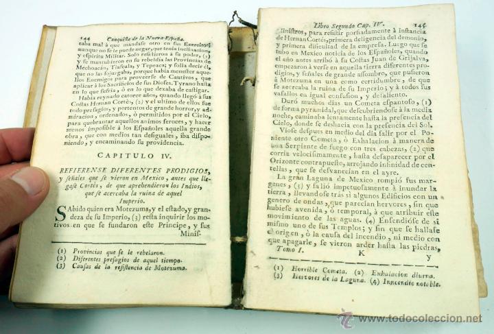Libros antiguos: Historia de la conquista de Mexico, Antonio de Solis 2 tomos, piferrer ed, 1771. mapas y grabados - Foto 11 - 161752784