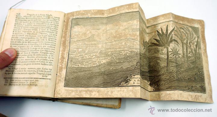 Libros antiguos: Historia de la conquista de Mexico, Antonio de Solis 2 tomos, piferrer ed, 1771. mapas y grabados - Foto 13 - 161752784