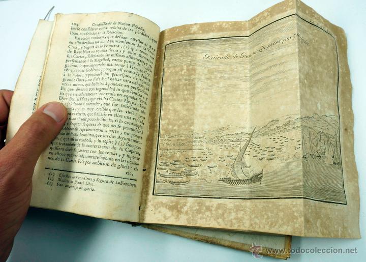 Libros antiguos: Historia de la conquista de Mexico, Antonio de Solis 2 tomos, piferrer ed, 1771. mapas y grabados - Foto 14 - 161752784