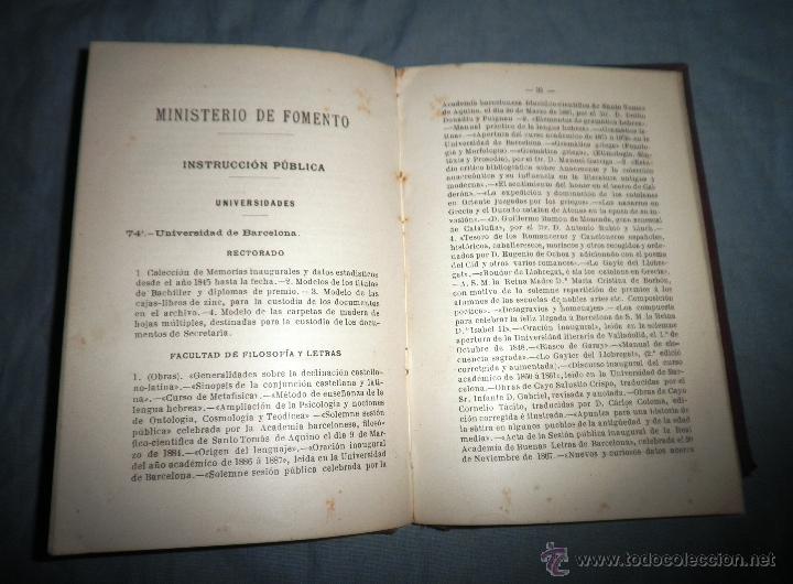 Libros antiguos: CATALOGO COMISARIA REGIA DEL GOBIERNO - EXPOSICION UNIVERSAL 1888 - MUY RARO.EN PLENA PIEL. - Foto 5 - 39617548