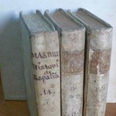 Libros antiguos: HISTORIA CRITICA DE ESPAÑA Y DE LA CULTURA ESPAÑOLA. MASDEU, J. F. ESPAÑA ARABE. TOMOS XII-XIII-XIV. Lote 39748341